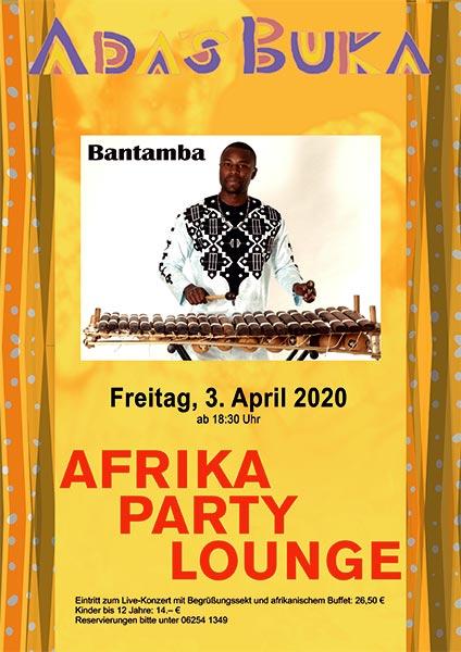 """Afrika Party Lounge: """"Bantamba"""""""